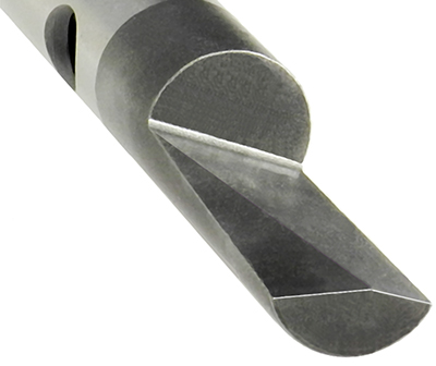 CNC Swiss Turning of a Steel Tool Blade for Electrical Industry
